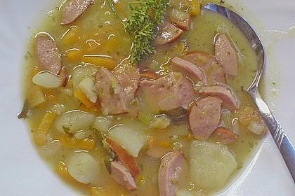 Kartoffelsuppe mit Speck und Majoran 2