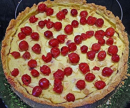 Floo s quark grie kuchen mit fr chten rezept mit for Kuchen mit bild