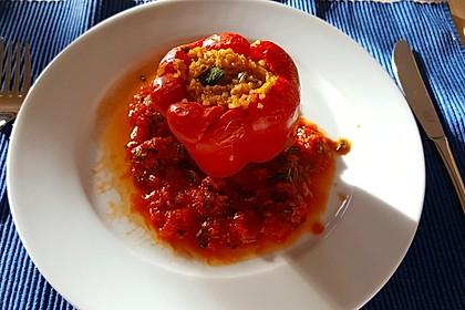 Gefüllte Paprika mit Bulgur 5