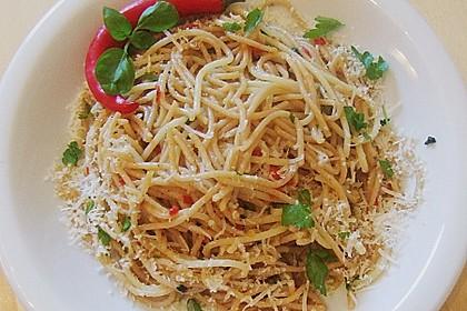 Spaghettini aglio, olio e peperoncino 19