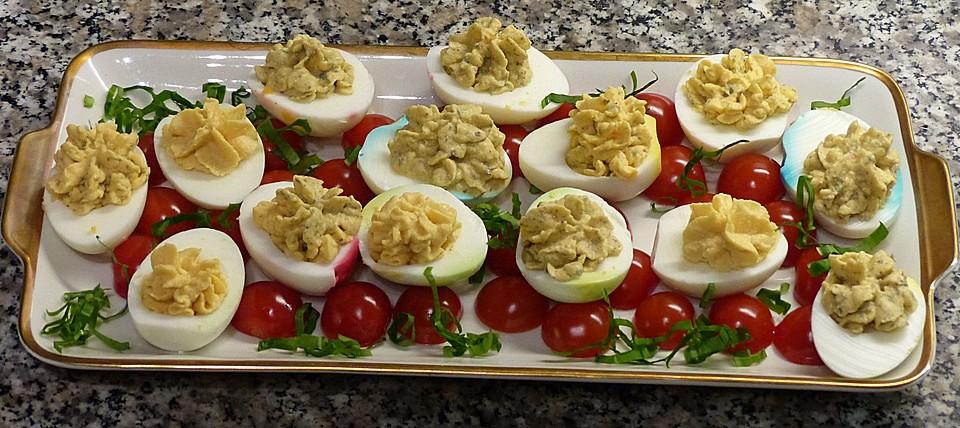 Gef llte eier rezept mit bild von gimor - Eier dekorieren ...