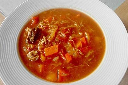 Pikante Gulasch - Sauerkrautsuppe 1