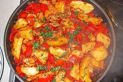 Leckere Kartoffel - Hähnchen - Pfanne 4