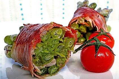 Grüne Bohnen im Speckmantel 2