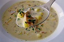 Kartoffelsuppe mit Pilzen