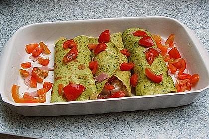 Bärlauch - Pfannkuchen mit Spargel - Schinkenfüllung 19