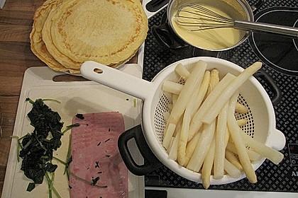 Bärlauch - Pfannkuchen mit Spargel - Schinkenfüllung 27