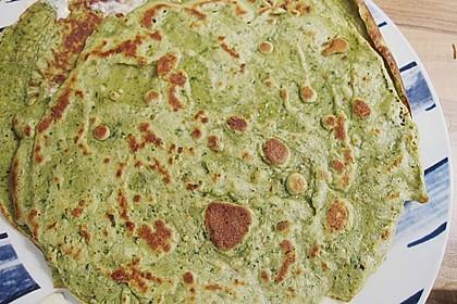 Bärlauch - Pfannkuchen mit Spargel - Schinkenfüllung 24