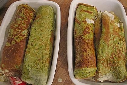 Bärlauch - Pfannkuchen mit Spargel - Schinkenfüllung 22