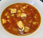 Leichte Tomatensuppe mit Lachs (Bild)