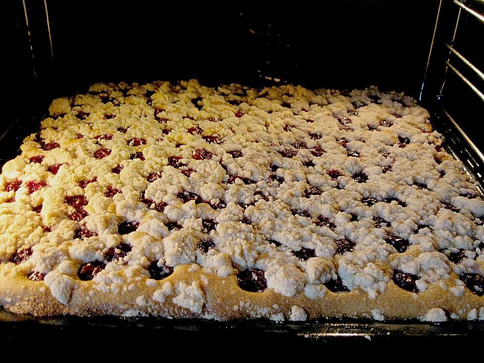 Rezept Kuchen Blech Kirschen Appetitlich Foto Blog F 252 R Sie