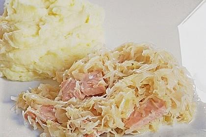 Sauerkraut mit Kassler 7