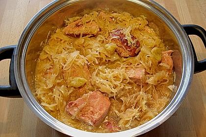 Sauerkraut mit Kassler 11