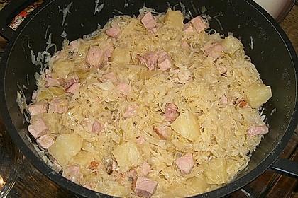Sauerkraut mit Kassler 6