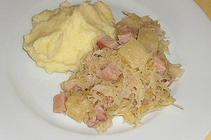 Sauerkraut mit Kassler 8