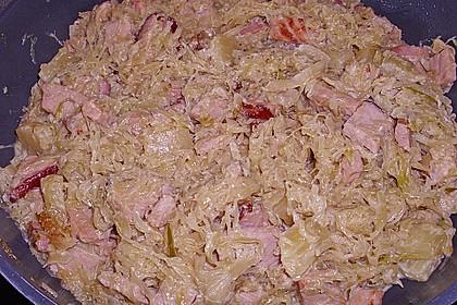 Sauerkraut mit Kassler 32