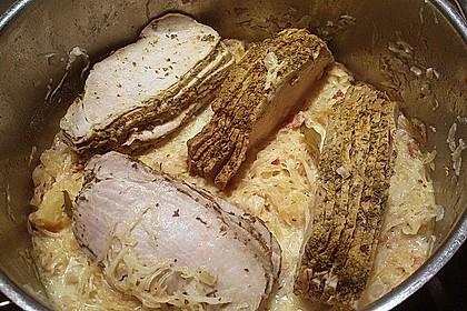 Sauerkraut mit Kassler 48