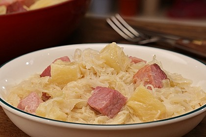 Sauerkraut mit Kassler 2