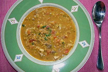 Anglo - indische Curry - Linsensuppe