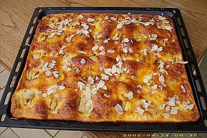 Apfelkuchen mit Amaretto - Schmandguss