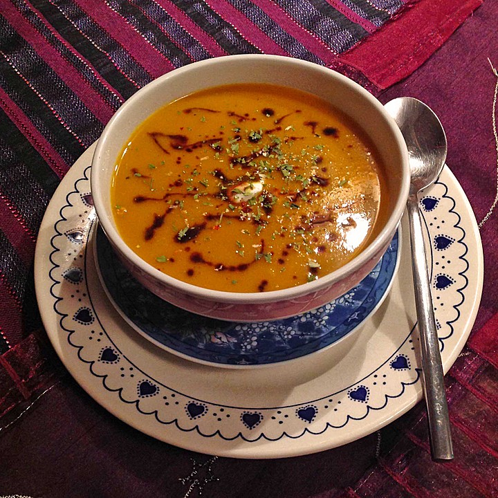 Cremige Kürbissuppe (Rezept mit Bild) von sandhya | Chefkoch.de