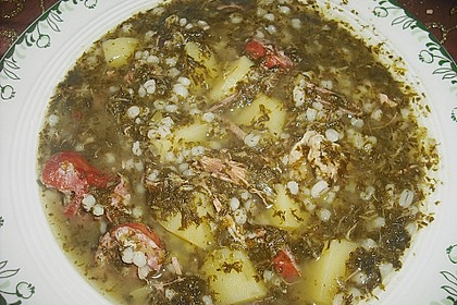 Grünkohl - Suppe 1