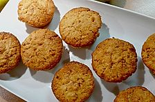Quitten - Mandel - Muffins mit Mandelkrokant