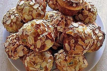 Quitten - Mandel - Muffins mit Mandelkrokant 1