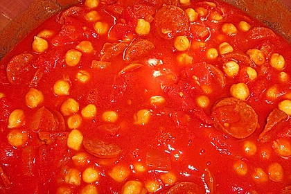 Kichererbseneintopf mit Chorizo 4