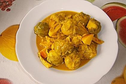 Rosenkohl in Currysauce 23