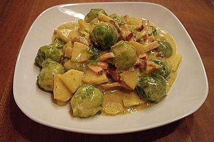 Rosenkohl in Currysauce 2