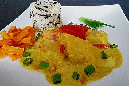 Fisch - Curry in Kokosmilch