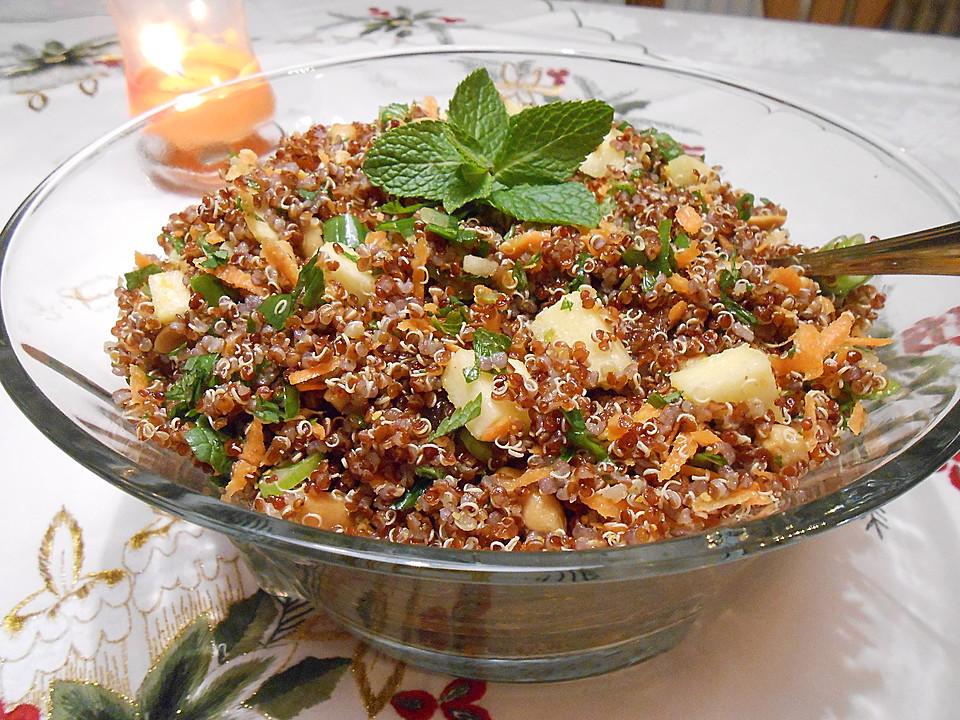 fruchtiger quinoa salat rezept mit bild von cappuccino. Black Bedroom Furniture Sets. Home Design Ideas