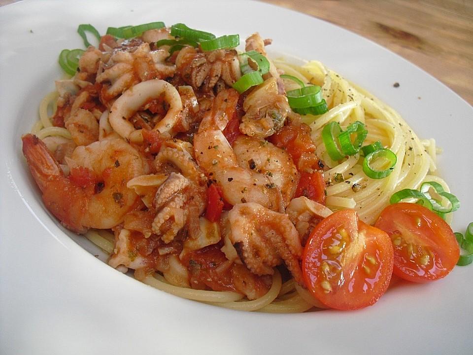 Spaghetti Frutti di Mare (Rezept mit Bild) von simone2 | Chefkoch.de