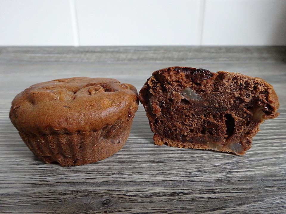 Birne-Schoko-Muffins