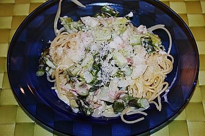 Spaghetti mit grünen Spargel 1