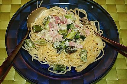 Spaghetti mit grünen Spargel