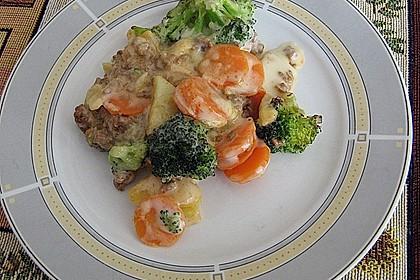 Gemüse - Gehacktes - Auflauf