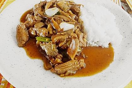Rindfleisch mit Austernpilzen und Frühlingszwiebeln 1