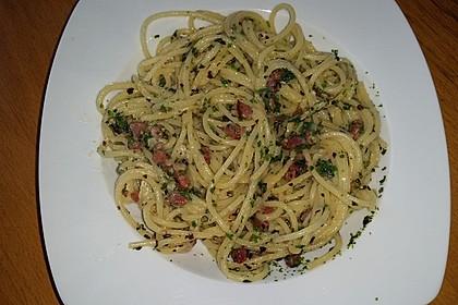 Spaghetti Carbonara, mal ohne Sahne 5
