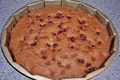 Rotweinkuchen mit Kirschen 7