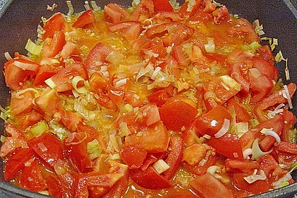 Bandnudeln mit Tomaten - Gorgonzola - Sauce 6