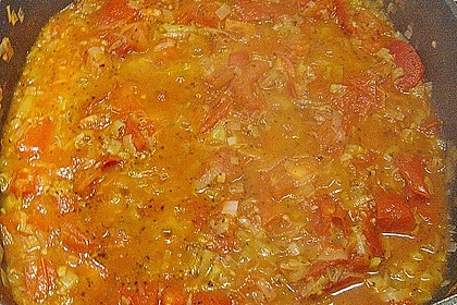 Bandnudeln mit Tomaten - Gorgonzola - Sauce 5