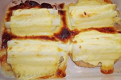 Schnitzel mit Spargel und Käse überbacken 6