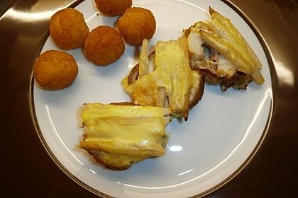 Schnitzel mit Spargel und Käse überbacken 4