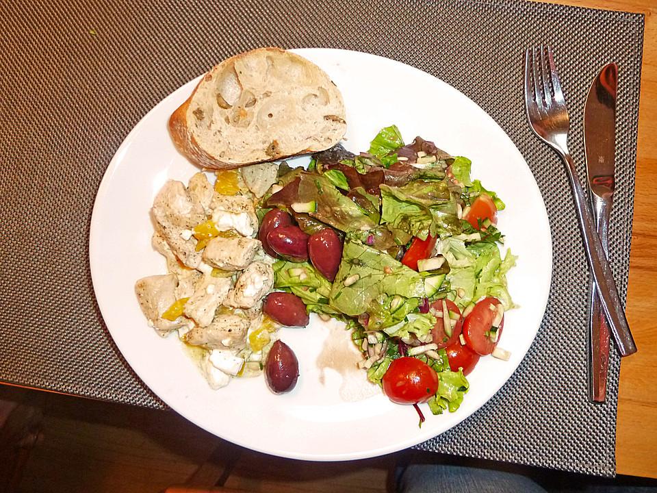 griechischer salat mit h hnchen von stielzchenblau. Black Bedroom Furniture Sets. Home Design Ideas