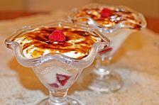 Fruchtiges Himbeer - Dessert