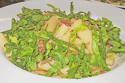 Pasta mit Schinken und Spinat in Thymiansauce 4