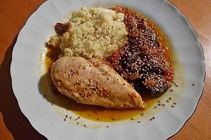 Huhn mit Backpflaumen, Honig und Zimt 12