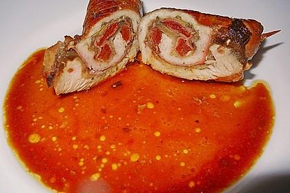 Involtini mit Aubergine, Parmaschinken und getrockneten Tomaten 14